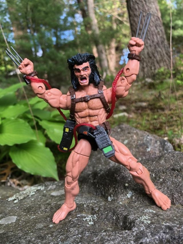 Unmasked Head on Logan Weapon X Wolverine Marvel Legends Figure