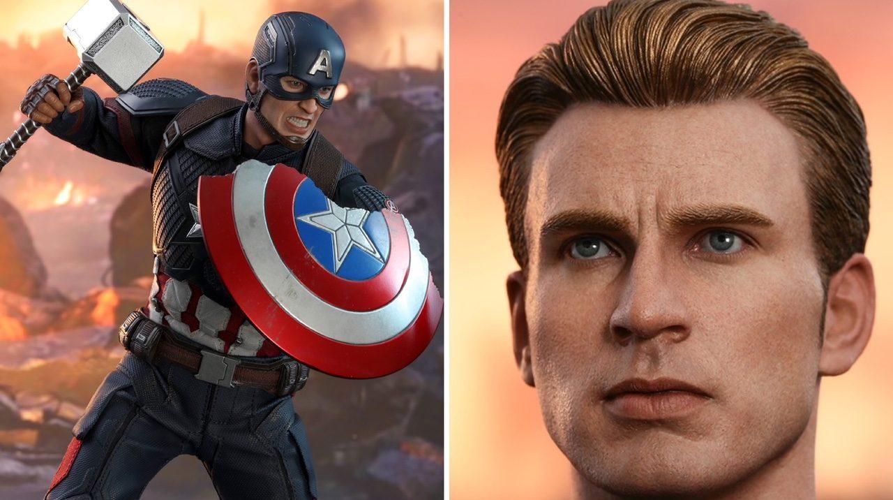 Hot Toys Endgame Captain America: New Head! Mjolnir ...
