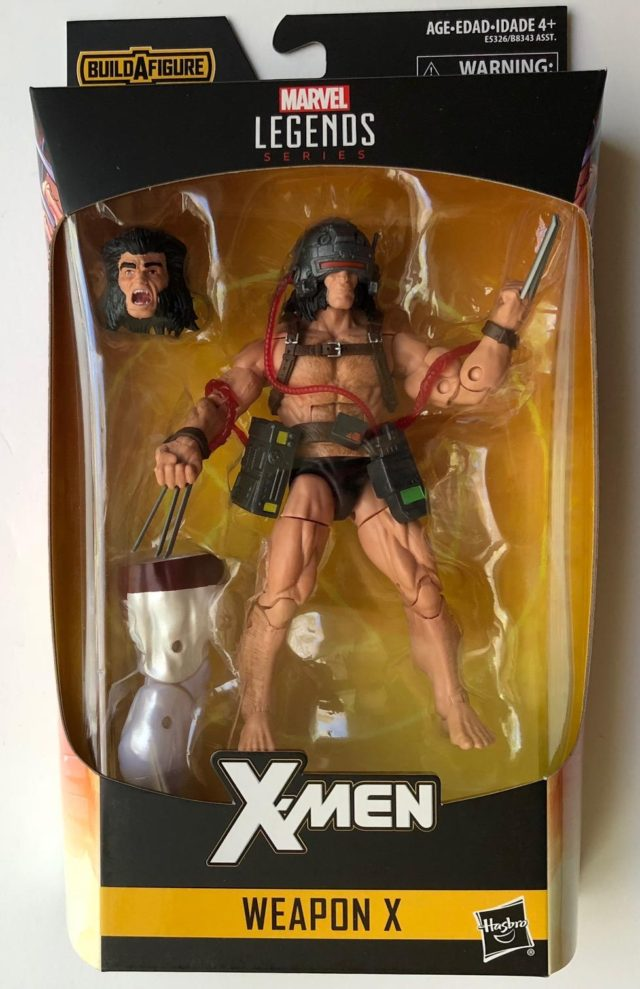 X-Men Legends Weapon X Figure Packaged