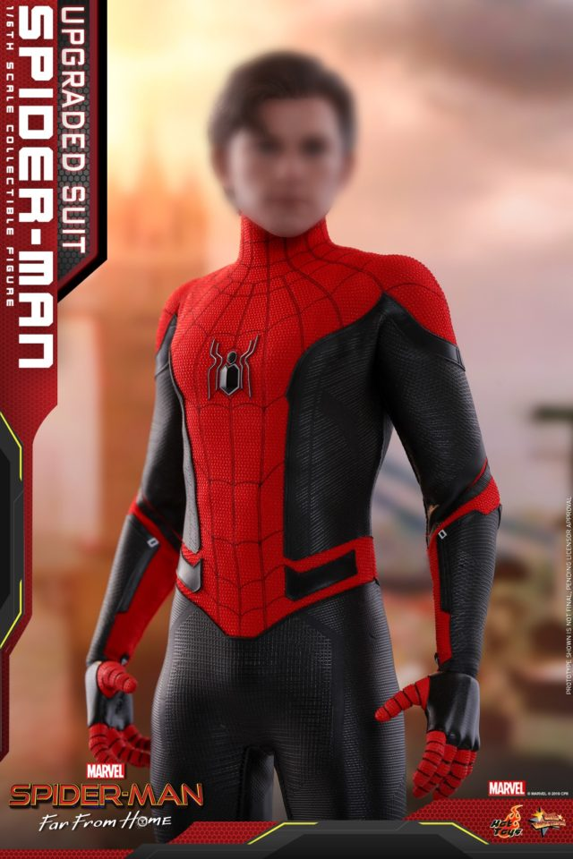 Far From Home Spider-Man Unmasked Hot Toys Tom Holland Head