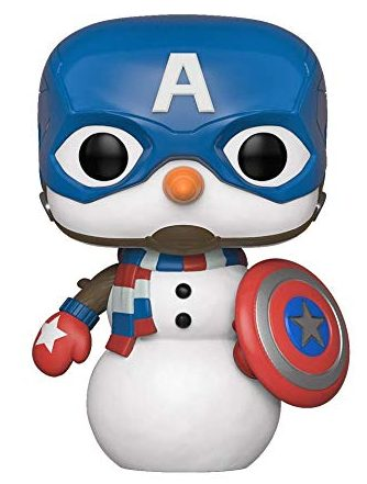 Funko POP Snowman Captain America Holiday Figure