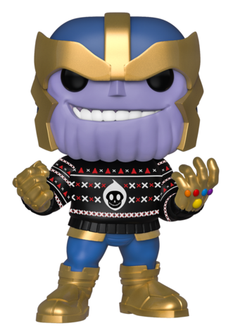 Funko POP Ugly Sweater Thanos Vinyl Figure Holiday 2019