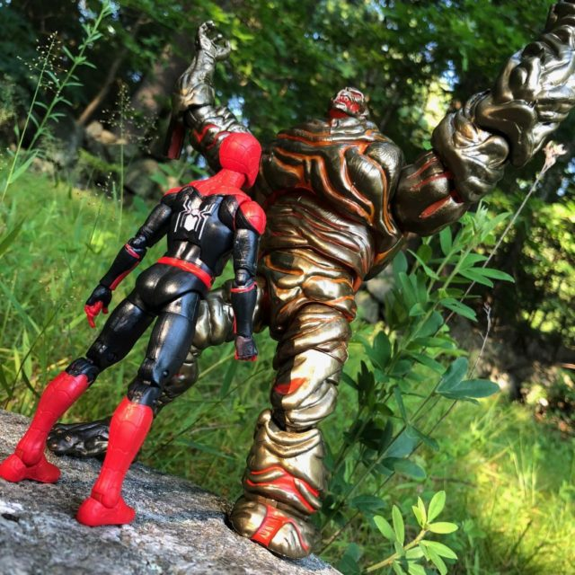 Marvel Legends Far From Home Molten Man vs. Spider-Man