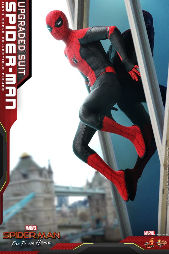 Red and Black Costume Spider-Man Hot Toys Far From Home Movie Figure