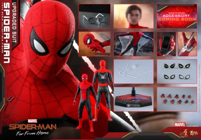 Upgraded Suit Spider-Man Hot Toys Figure and Accessories