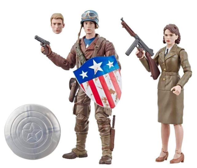 Amazon Exclusive Marvel Legends Peggy Carter Steve Rogers Six Inch Figures Pack