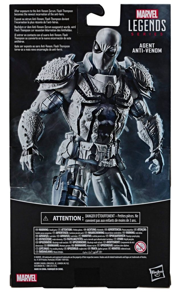 Anti-Venom Marvel Legends Box Back