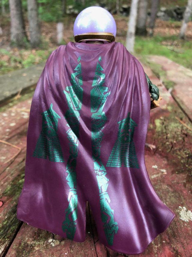 Back of Cape Detail on Mysterio Hasbro Marvel Legends MCU Figure