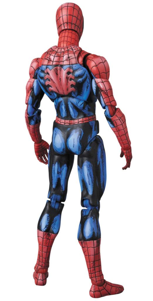 Back of Medicom Spider-Man MAFEX Comic Painted Cel Shaded Figure