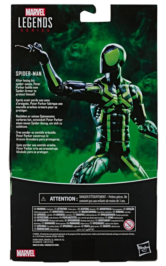 Big Time Spider-Man Marvel Legends Box Back