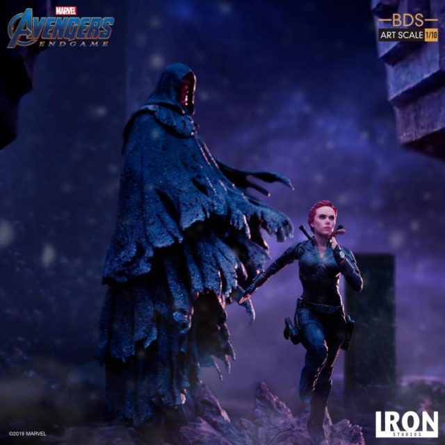 Black Widow Running from Red Skull Iron Studios BDS Statues