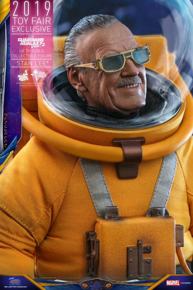 Close-Up of Summer Exclusive Hot Toys Stan Lee Figure in Spacesuit