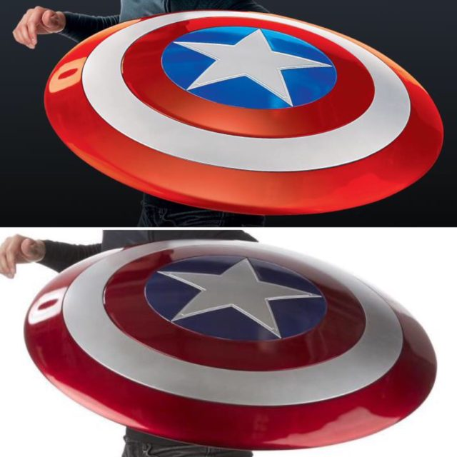 Comparison of Marvel Legends Comics and Movie Captain America Shields