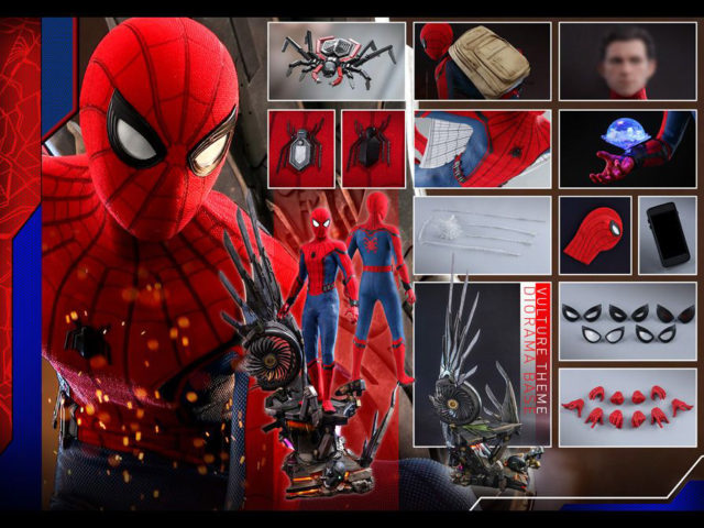 Deluxe Spider-Man Quarter Scale Figure and Accessories Hot Toys