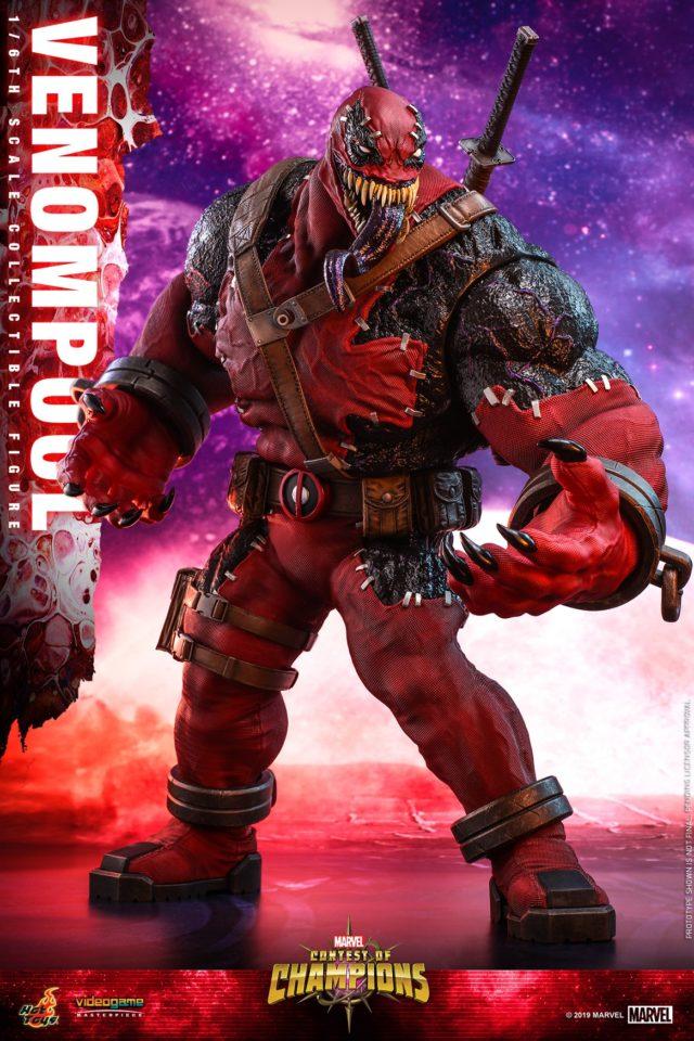 Hot Toys Deadpool Venom Venompool Sixth Scale Figure