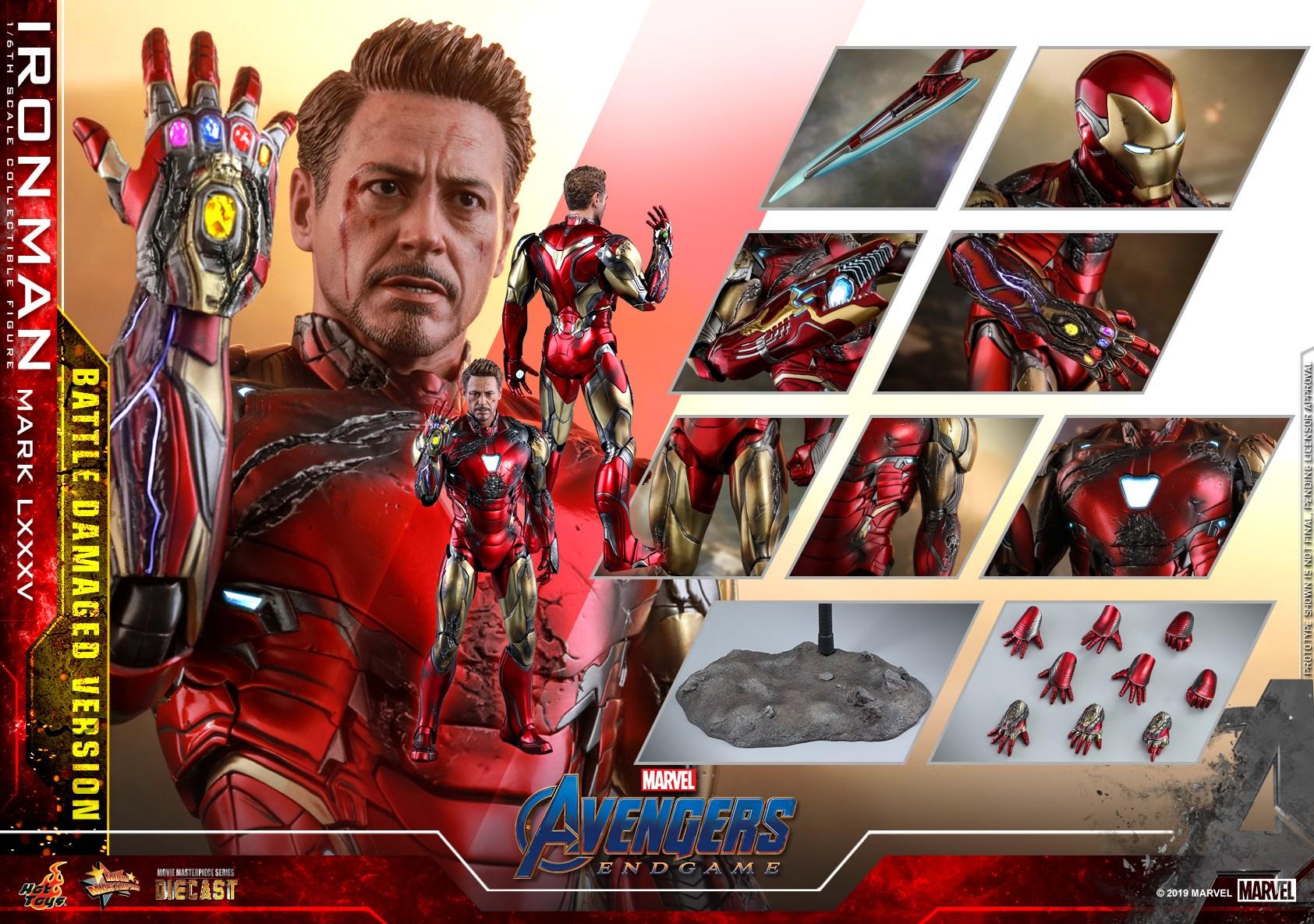 Hot Toys Battle Damaged Iron Man Mark 85 Figure Up For Order Marvel Toy News