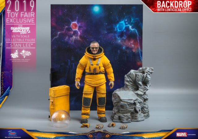 Hot Toys Guardians of the Galaxy 2 Stan Lee Figure Lenticular Backdrop