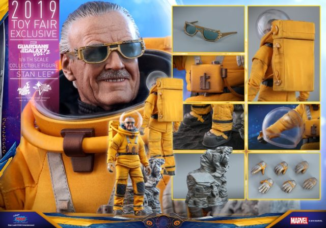 Hot Toys Stan Lee 2019 Toy Fair Exclusive 12 Inch Figure and Accessoried