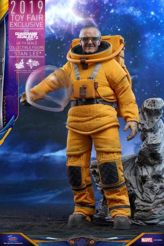 Hot Toys Stan Lee in Spacesuit 12 Inch Figure with Helmet Off