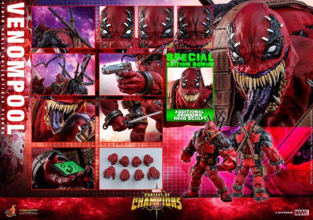 Hot Toys Venompool Figure and Accessories
