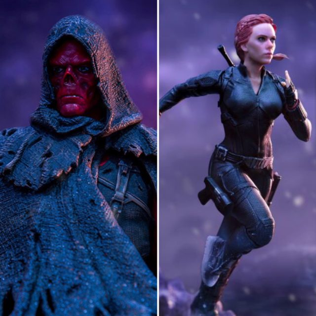 Iron Studios Endgame Black Widow and Red Skull Statues BDS