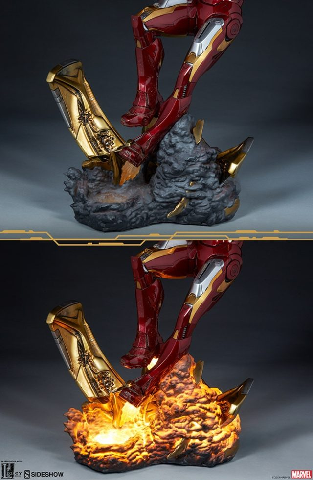 Light-Up Base for Sideshow Iron Man Mark 7 Statue