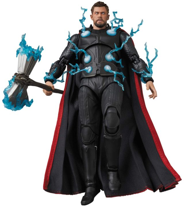 MAFEX Thor Infinity War Figure with Lightning Effects Pieces Attached