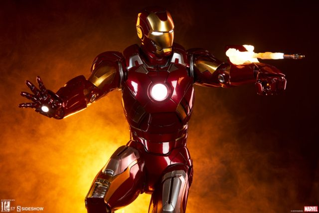 Mark VII Iron Man Sideshow Collectibles 21 Inch Statue