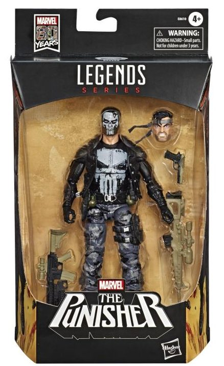 Marvel Legends 80 Years Camo Punisher with Skull Face Packaged