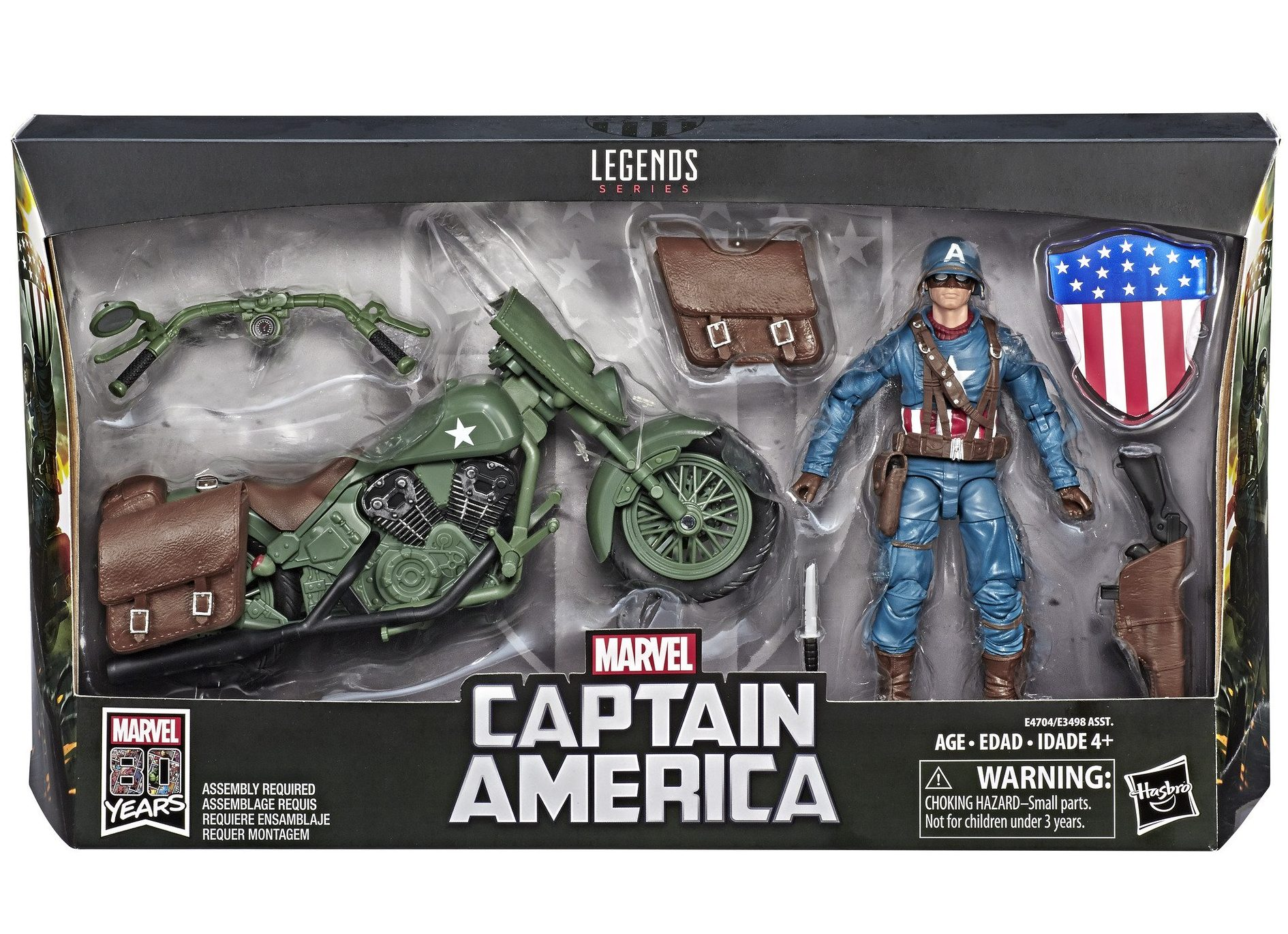 Marvel Legends Ultimate Captain America with Motorcycle New!