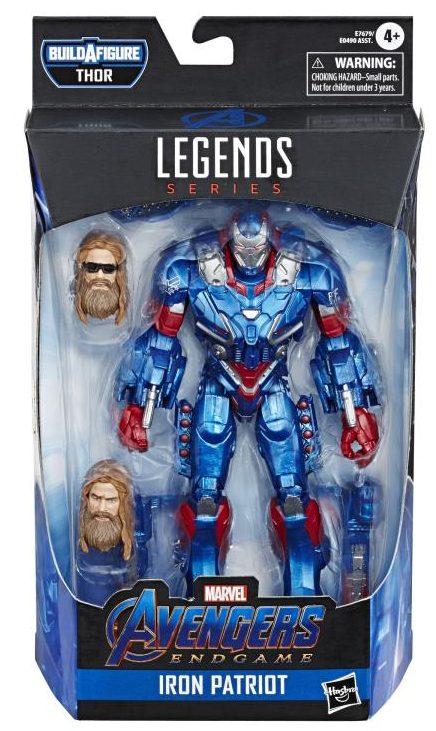 Marvel Legends Endgame Iron Patriot Packaged
