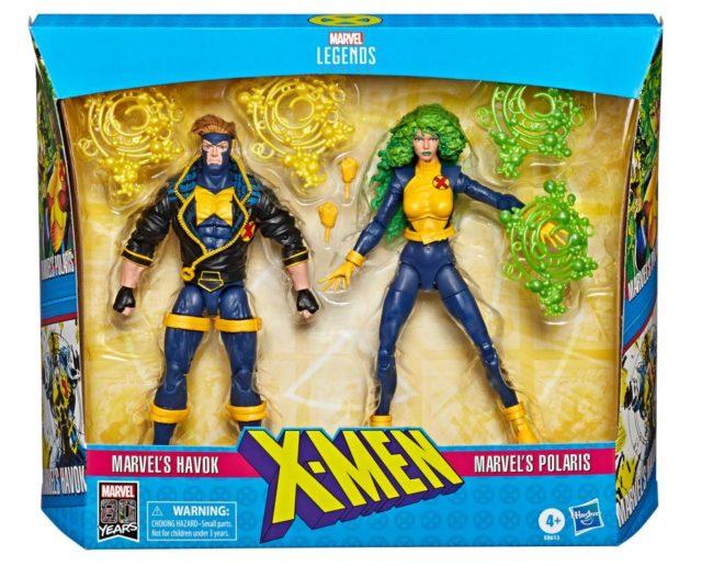 Marvel Legends Havok Polaris Two Pack in Box