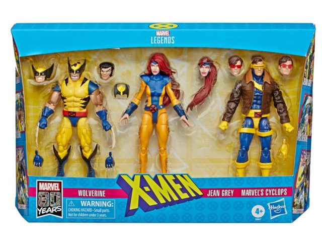 Marvel Legends Jean Grey Cyclops Wolverine 3 Pack Packaged