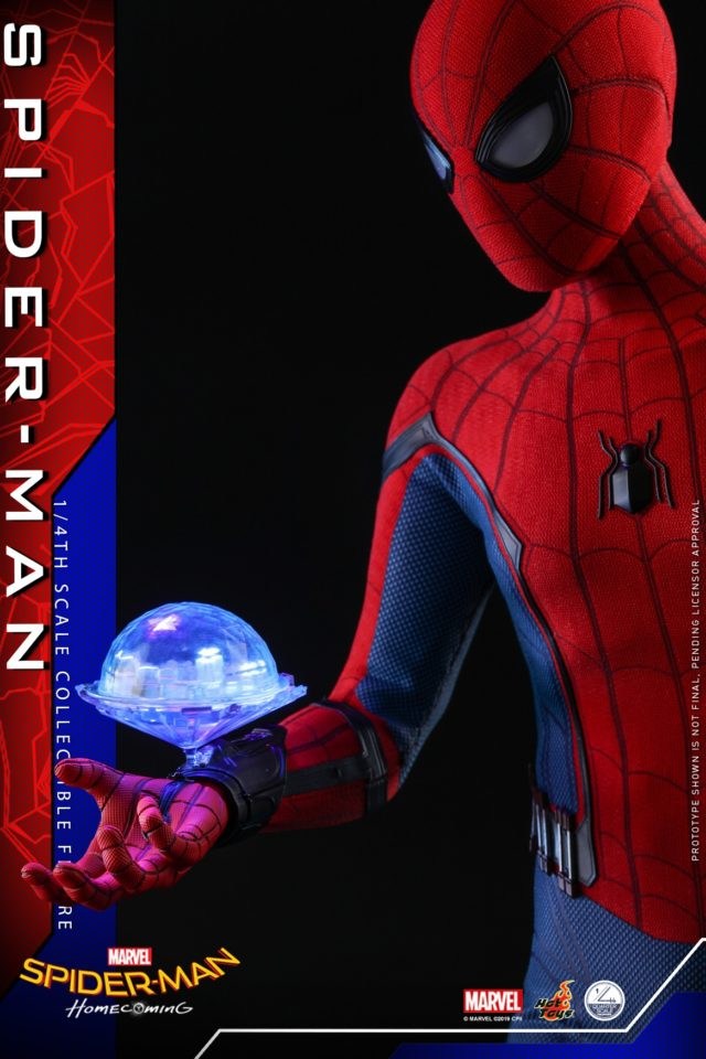 Quarter Scale Spider-Man Hot Toys Figure with Hologram