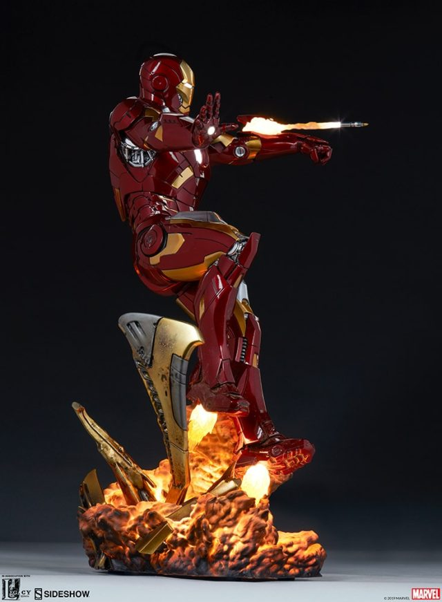 Side View of Sideshow Iron Man Mark 7 Statue