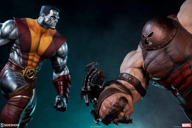 Sideshow Premium Format Juggernaut vs Colossus Statues