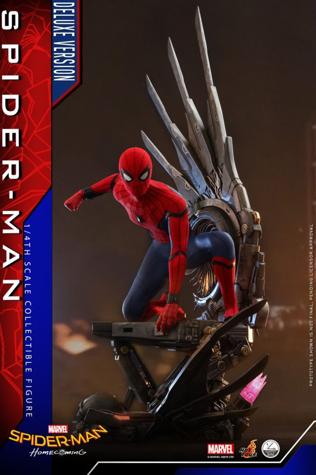 Spider-Man Homecoming Hot Toys Quarter Scale Figure on Deluxe Base