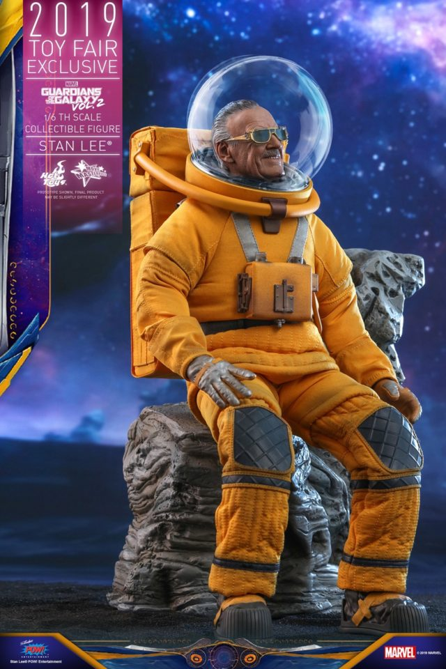 Stan Lee Hot Toys Figure on Stones Chair