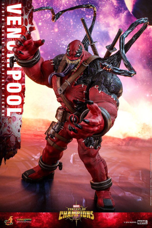 Tendrils on Venompool Hot Toys 14 Inch Figure