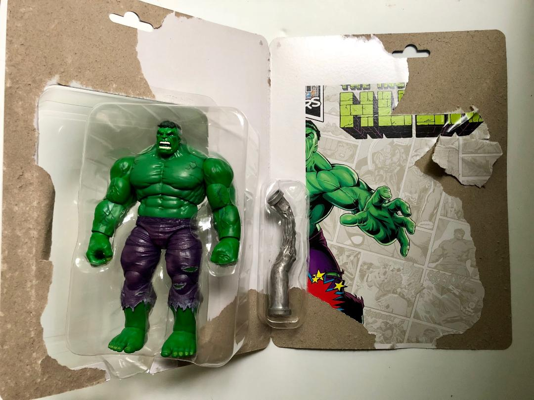 Marvel Legends Retro Grey Incredible HULK 80th Exclusive Vintage Card In Stock
