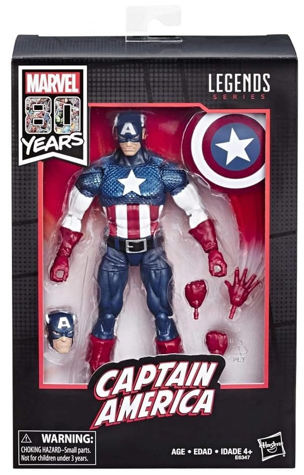 Walmart Exclusive Captain America 80 Years of Marvel Legends Figure Packaged