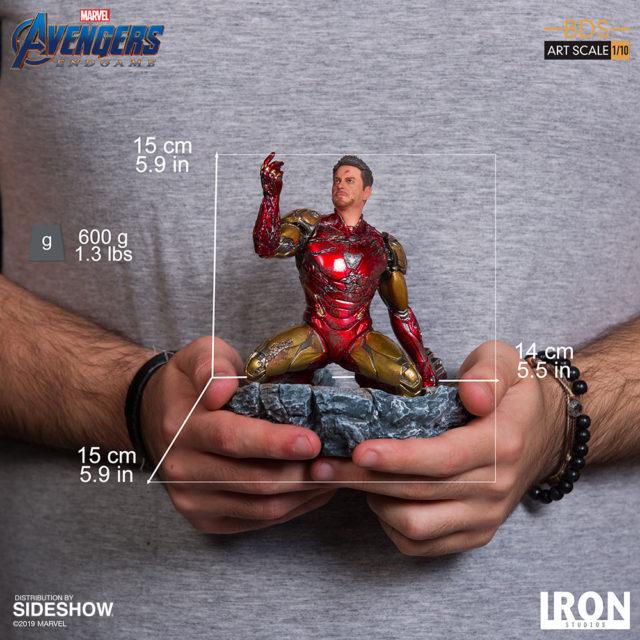 Avengers Endgame Iron Man Snapping Statue Iron Studios