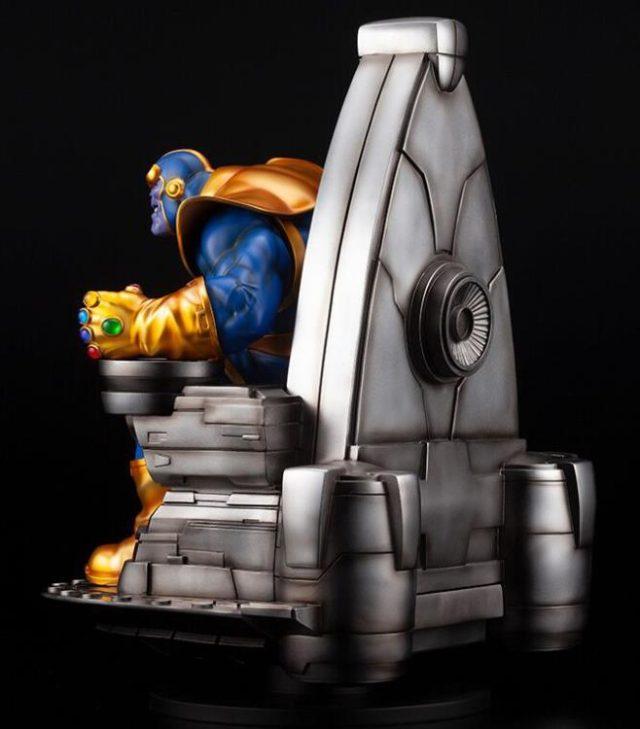 Back View of Kotobukiya 2020 Thanos Statue on Throne