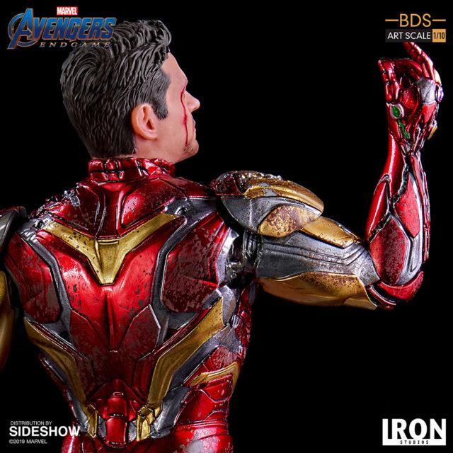 Battle Damaged Iron Man Mark 85 Endgame Iron Studios Statue