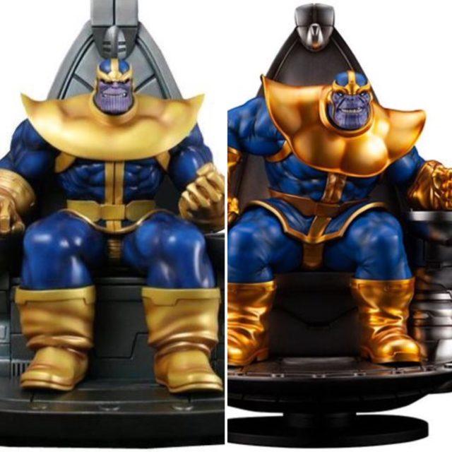 Bowen Thanos on Throne Statue Comparison with Kotobukiya Fine Arts Statue