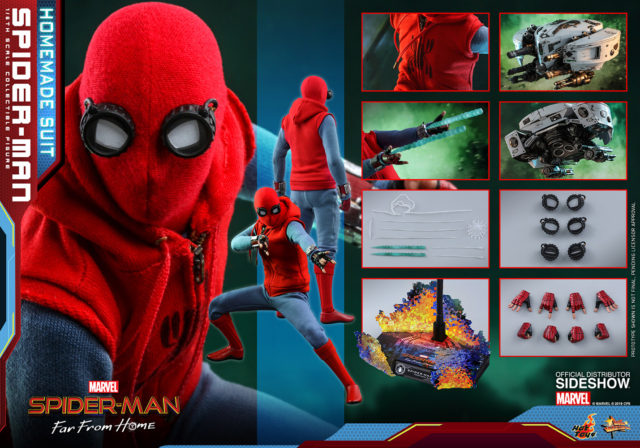 Hot Toys Far From Home Spider-Man Homemade Suit Figure and Accessories