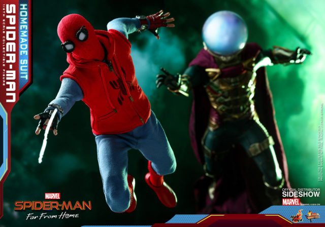 Hot Toys Mysterio Figure Chasing Homemade Suit Spider-Man