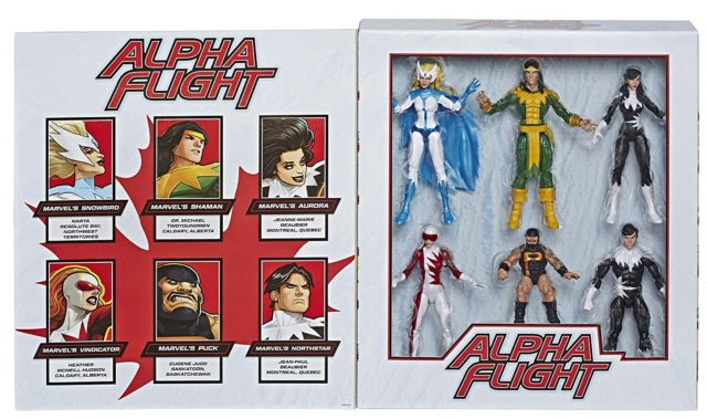 Marvel Legends Alpha Flight Box Set Figures Packaged