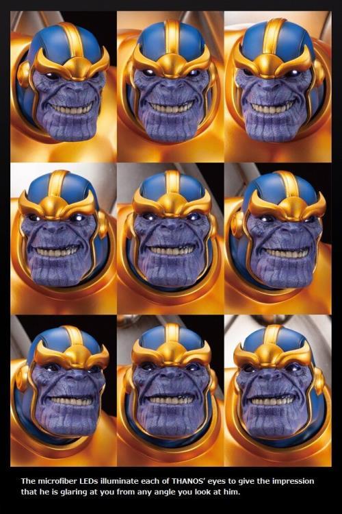 Moving LED Eyes on Kotobukiya Thanos on Throne Statue