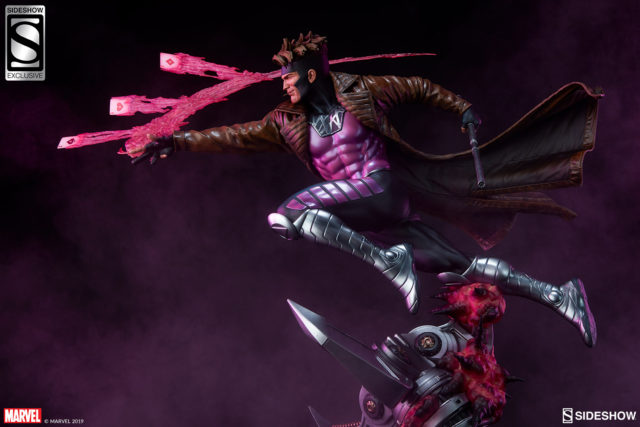 Side View of Gambit Premium Format Figure Sideshow Collectibles